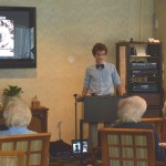 Eighth Grade Boys Present at Cairnwood Village
